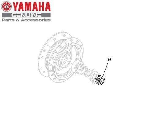 ENGRENAGEM MOTORA DO TAMBOR YBR125 FACTOR ORIGINAL YAMAHA