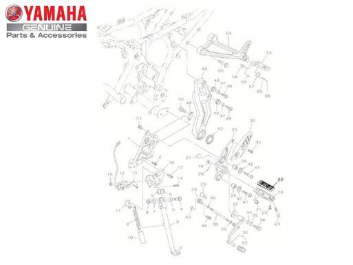CAPA (BORRACHA) DA PEDALEIRA DIANTEIRA PARA MT 07 ORIGINAL YAMAHA