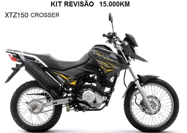 KIT REVISÃO XTZ150 CROSSER 15.000KM (Peças + Óleo)