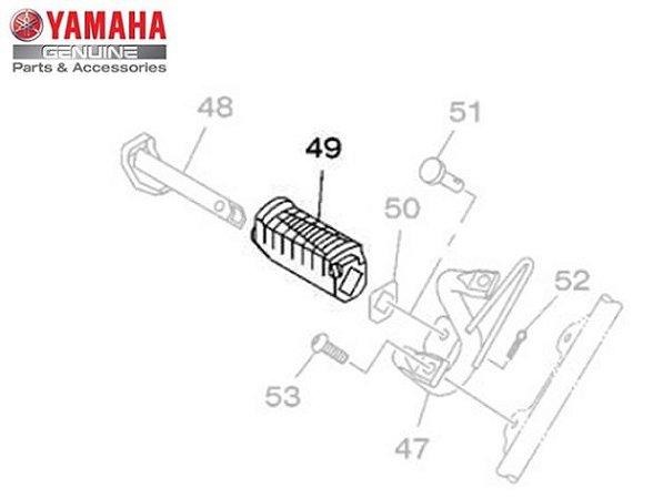 Capa (Borracha) da Pedaleira Traseira Direita XTZ150 Crosser Original Yamaha