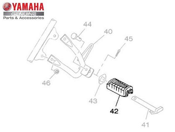 Capa (Borracha) da Pedaleira Traseira Esquerda XTZ150 Crosser Original Yamaha