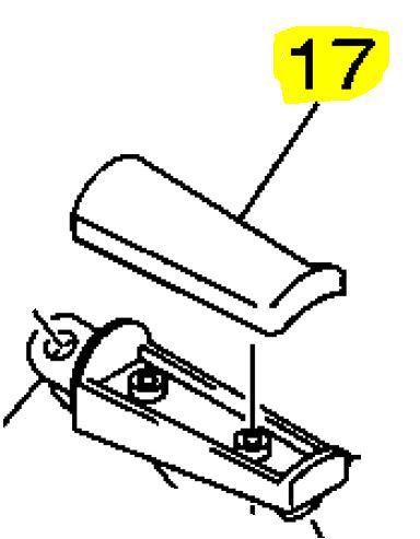 Borracha da pedaleira XJ-6 N Direita ou Esquerda
