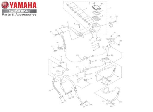 TAMPA DO RESERVATÓRIO PARA XJ6 F E N E MT-09 ORIGINAL YAMAHA