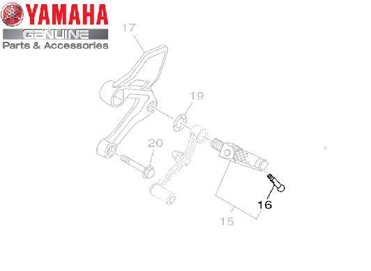 PINO PEDALEIRA PARA FZ25 FAZER 250 2018 E MT-09 ORIGINAL YAMAHA