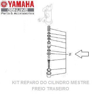 KIT DE REPARO DO CILINDRO MESTRE DO FREIO TRASEIRO MT-07 E XJ6 ORIGINAL YAMAHA