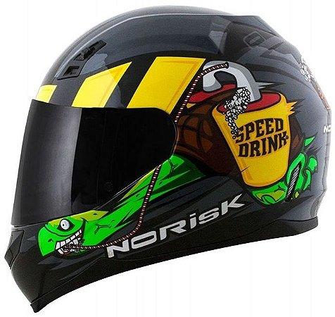 CAPACETE NORISK FF391 STUNT SPEED DRINK SILVER