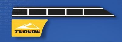 KIT ADESIVOS LADO ESQUERDO XTZ 250 TENERE 2012 AZUL