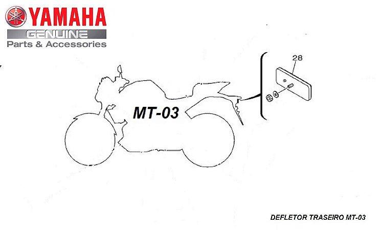 DEFLETOR TRASEIRO PARA MT-03 ORIGINAL YAMAHA