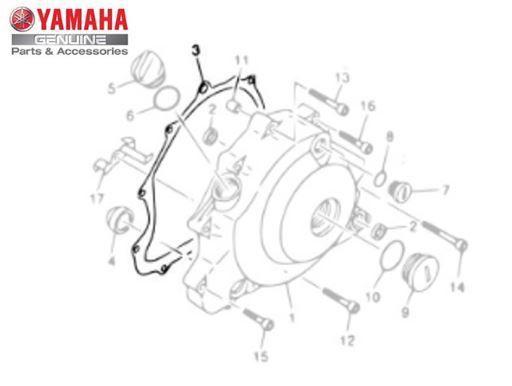 GAXETA ( JUNTA ) DA TAMPA ESQUERDA DO MOTOR PARA XVS650 DRAG STAR E XV535 VIRAGO ORIGINAL YAMAHA