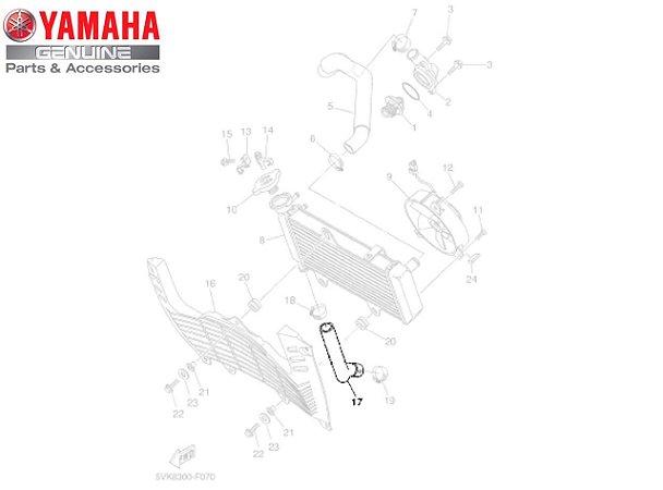 MANGUEIRA INFERIOR DO RADIADOR DA XT660R ORIGINAL YAMAHA
