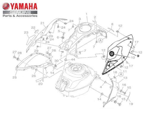 CAPA ESQUERDA DO TANQUE PARA MT-03 ORIGINAL YAMAHA