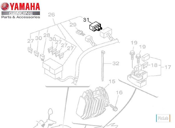 DIODO CONJUNTO FAZER 250 2012 EM DIANTE ; LANDER 250 ; TENERE 250 ; MT-03 ; YZF R3 ORIGINAL YAMAHA