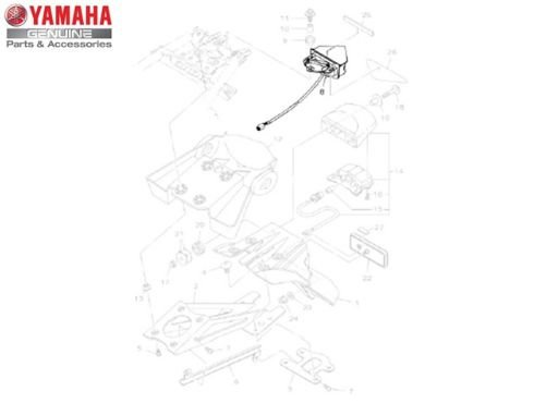 LANTERNA TRASEIRA CONJUNTO XTZ 250 X LANDER 2008/10 ORIGINAL YAMAHA