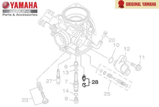 CONJUNTO DE AGULHAS CARBURADOR ORIGINAL YAMAHA ( APLICAÇÃO NAS MOTOS ABAIXO )