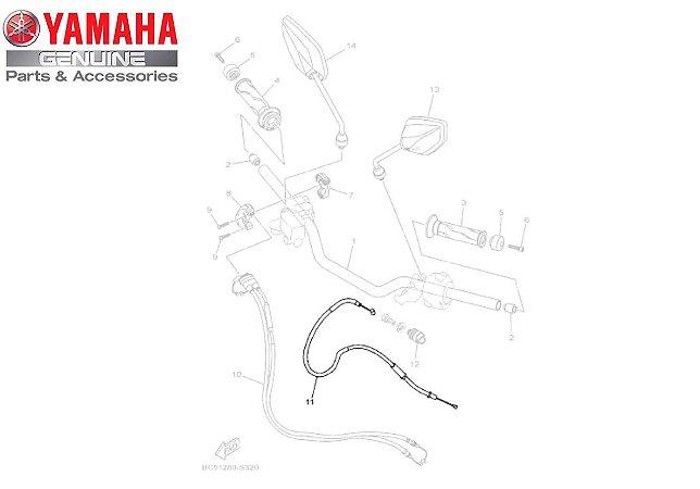 CABO DE EMBREAGEM PARA FZ25 NOVA FAZER 250 ABS 2018 A 2021 ORIGINAL YAMAHA