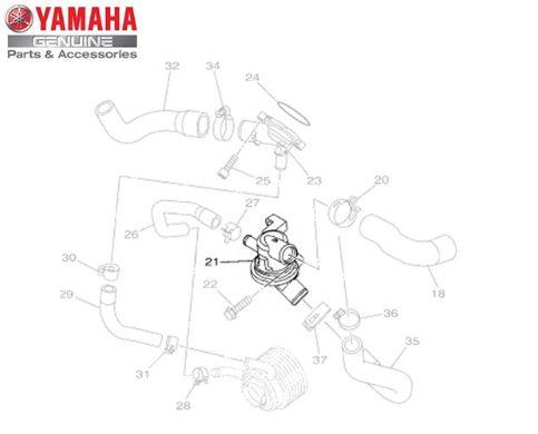 TERMOSTATO DA BOMBA DE AGUA PARA MT-09 ORIGINAL YAMAHA