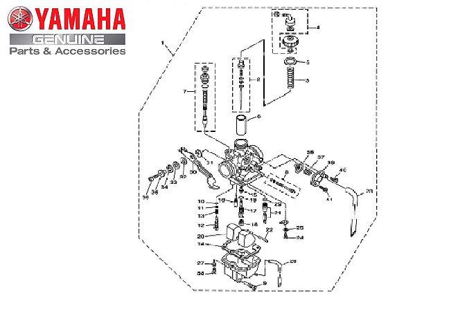CARBURADOR COMPLETO YBR 125 2006 E 2007 ORIGINAL YAMAHA