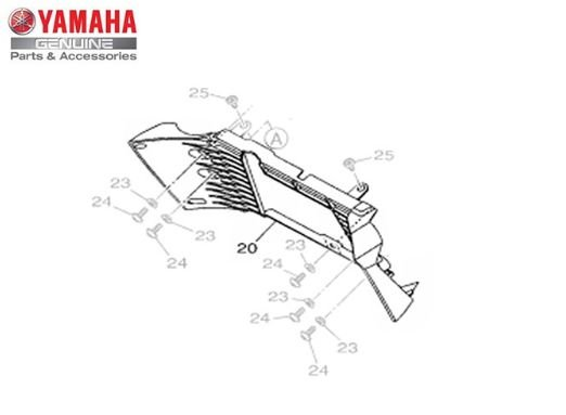 DUTO DE AR 1 DO RADIADOR PARA MT-03 ORIGINAL YAMAHA