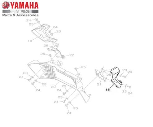 GUIA DE AR ESQUERDO DO RADIADOR PARA MT-03 ORIGINAL YAMAHA