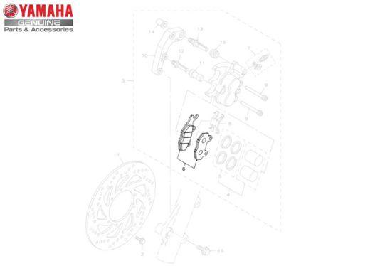 KIT PASTILHA DE FREIO DIANTEIRO PARA LANDER ATE 2014 , TENERE 250 , TTR230 , XTZ125 ORIGINAL YAMAHA (APLICAÇÃO NAS MOTOS ABAIXO)