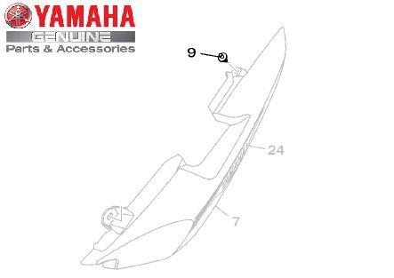 REBITE FORMATO ESPECIAL (5,9 X 8,5 X 12) PARA FACTOR 150 E FAZER 150 ORIGINAL YAMAHA