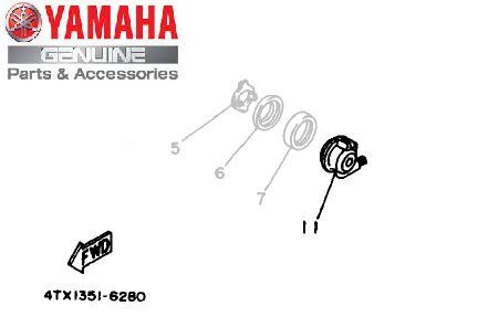 ENGRENAGEM DO VELOCIMETRO CONJUNTO PARA TDM 850 E XV535 VIRAGO ORIGINAL YAMAHA