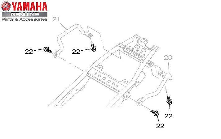 PARAFUSO FLANGE (M8) PARA FIXAÇÃO DA ALÇA TRASEIRA LANDER 250 ORIGINAL YAMAHA