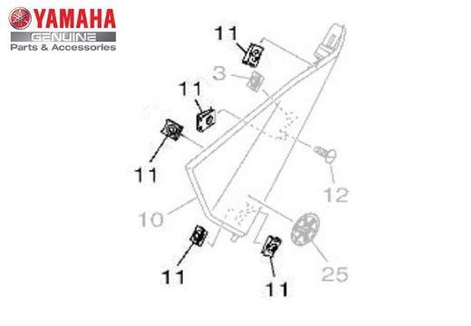 PORCA MOLA (M5) DA MT 03, NMAX 160, R3, CRYPTON ; NEO 125 UBS ORIGINAL YAMAHA
