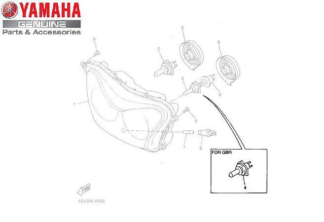 LAMPADA DO FAROL 12V-35/35W FOR GBR PARA YZF 1000 1997 ORIGINAL YAMAHA