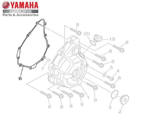 JUNTA DA TAMPA ESQUERDA DO MOTOR MT 07 ORIGINAL YAMAHA