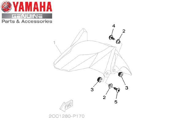 KIT DE FIXAÇÃO DO PARALAMA PARA XTZ150 CROSSER ORIGINAL YAMAHA