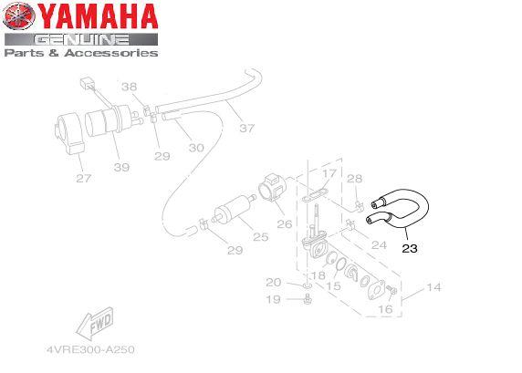 TUBO DA TORNEIRA DE COMBUSTIVEL XVS650 DRAGSTAR ORIGINAL YAMAHA