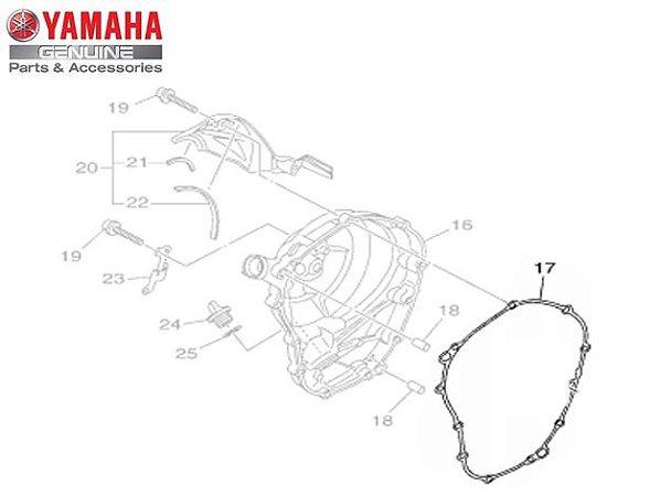 GAXETA OU JUNTA DA TAMPA DIREITA DO MOTOR DA MT-09 E MT-09 TRACER ORIGINAL YAMAHA