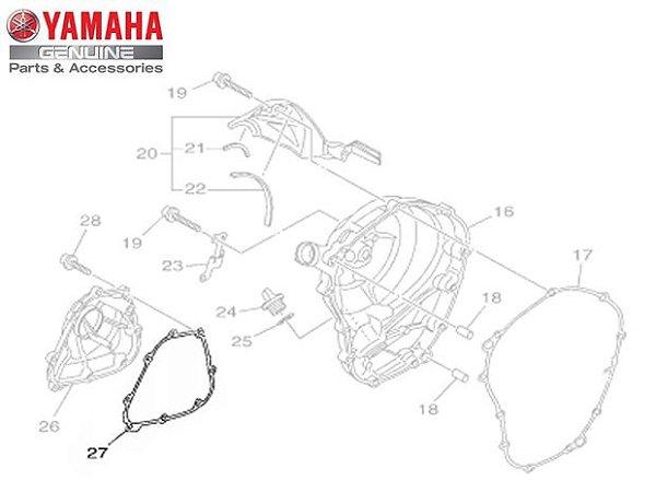 JUNTA DA TAMPA DA BOMBA DE ÓLEO DA MT-09 E MT-09 TRACER ORIGINAL YAMAHA