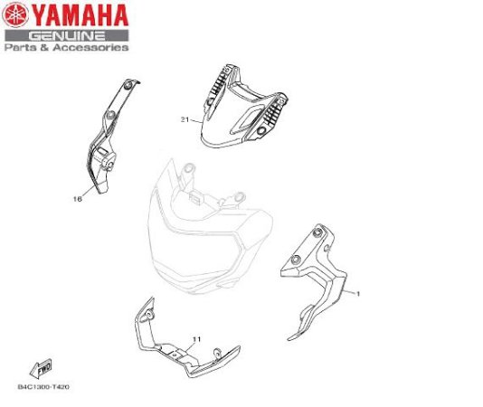CARENAGENS DO FAROL PARA MT-07 MODELO 2019 E 2020 ORIGINAL YAMAHA