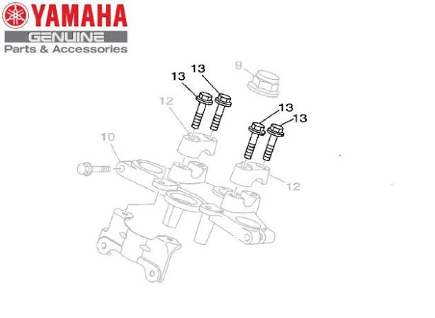 PARAFUSO DO FIXADOR DE GUIDAO PARA YBR150 FACTOR ORIGINAL YAMAHA