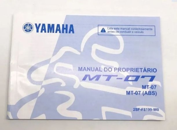 MANUAL DO PROPRIETARIO PARA MT-07 ORIGINAL YAMAHA