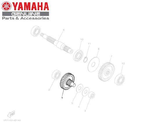 EIXO PRINCIPAL DA TRANSMISSAO DA AT115 NEO ORIGINAL YAMAHA