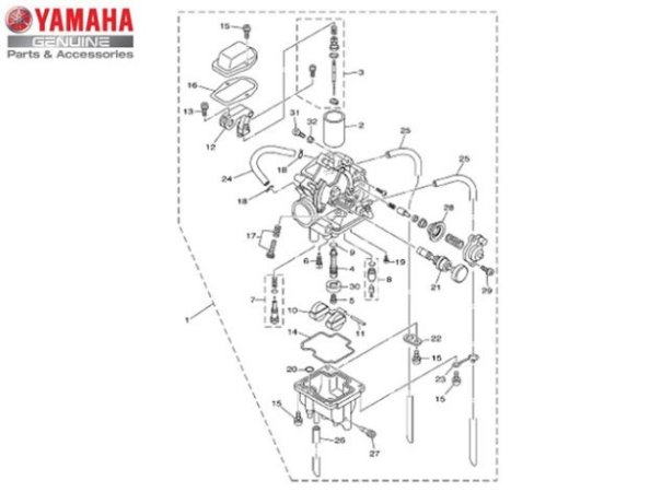 CARBURADOR COMPLETO PARA TTR-230 ORIGINAL YAMAHA