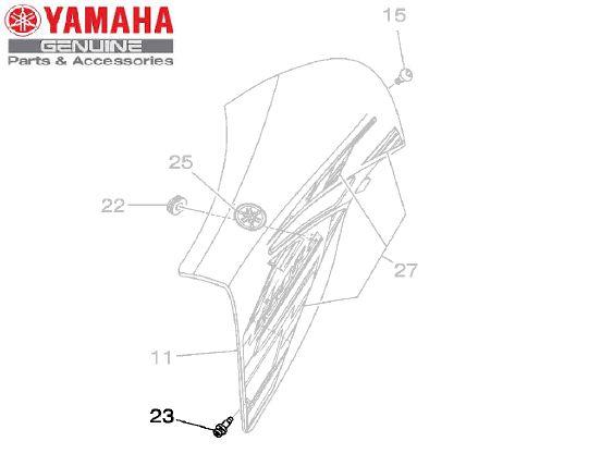 REBITE FORMATO ESPECIAL (5,9 X 8,5 X 12) PARA TOMADA DE AR DA XT660R ORIGINAL YAMAHA