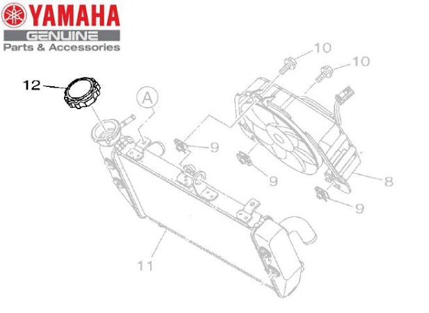 TAMPA DO RADIADOR PARA MT-03 ORIGINAL YAMAHA
