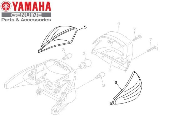 LENTE DO PISCA TRASEIRO PARA AT115 NEO 2005 A 2007 ORIGINAL YAMAHA