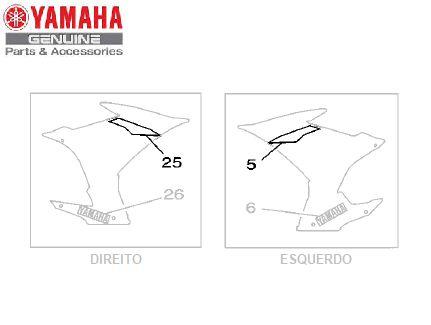 GRAFICO DA TOMADA DE AR PARA XJ6-F 2013 BRANCA ORIGINAL YAMAHA