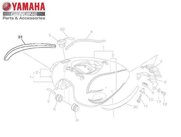 EMBLEMA 3D FRISO DO TANQUE DA XVS950 MIDNIGHT STAR ORIGINAL YAMAHA