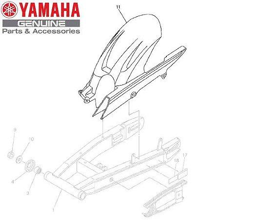 PARALAMA TRASEIRO E CAPA CORRENTE PARA FZ6-N E FZ6-S ORIGINAL YAMAHA
