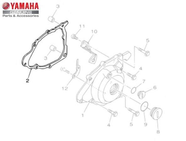 GAXETA OU JUNTA DA TAMPA ESQUERDA DO MOTOR PARA TTR-230 ORIGINAL YAMAHA