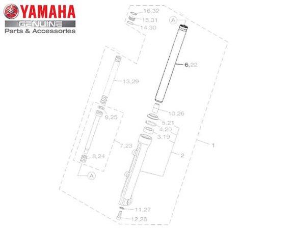 TUBO INTERNO DO GARFO DIANTEIRO PARA NMAX 160 ORIGINAL YAMAHA