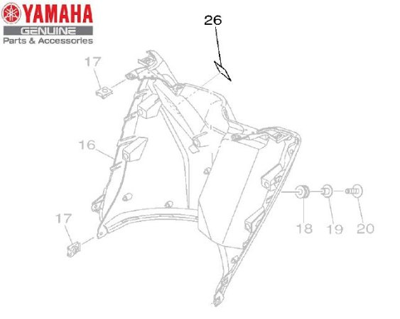 ETIQUETA DE ADVERTENCIA PARA NMAX 160 ORIGINAL YAMAHA