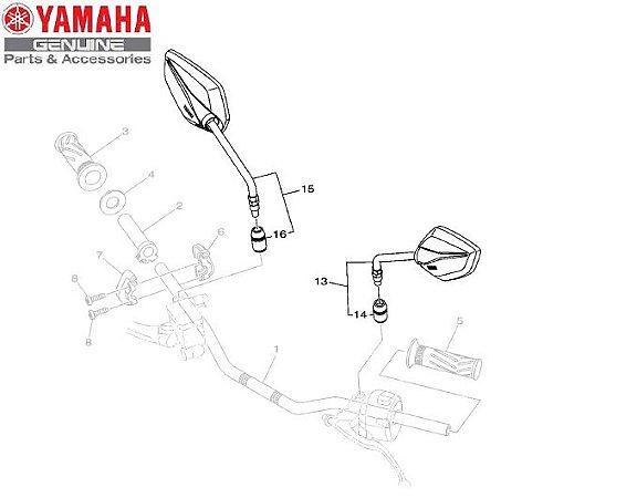 ESPELHO RETROVISOR PARA XTZ250 NOVA LANDER ABS 2020 A 2022 ORIGINAL YAMAHA