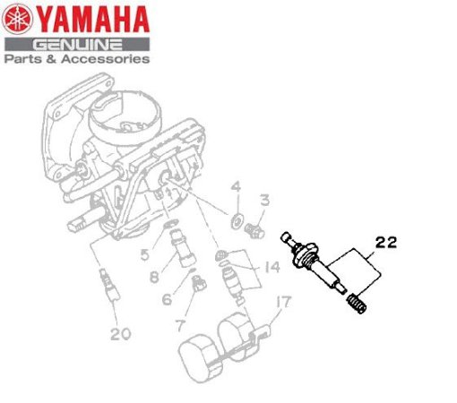KIT DE CARBURACAO PARA XV250 VIRAGO ORIGINAL YAMAHA